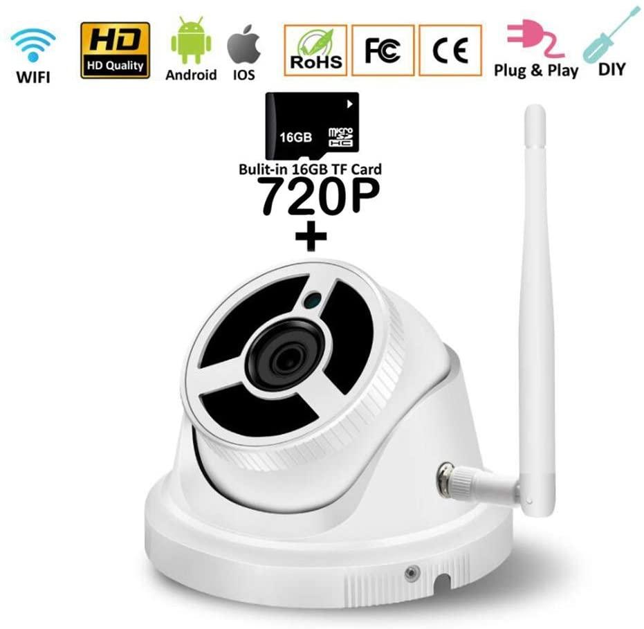 SXTCC 720P Surveillance Dome Camera Security Camera HD TVI/CVI/AHD Outdoor Weather Proof IP66,Fixed Lens 2.0MP,for Baby/Pet/Elderly