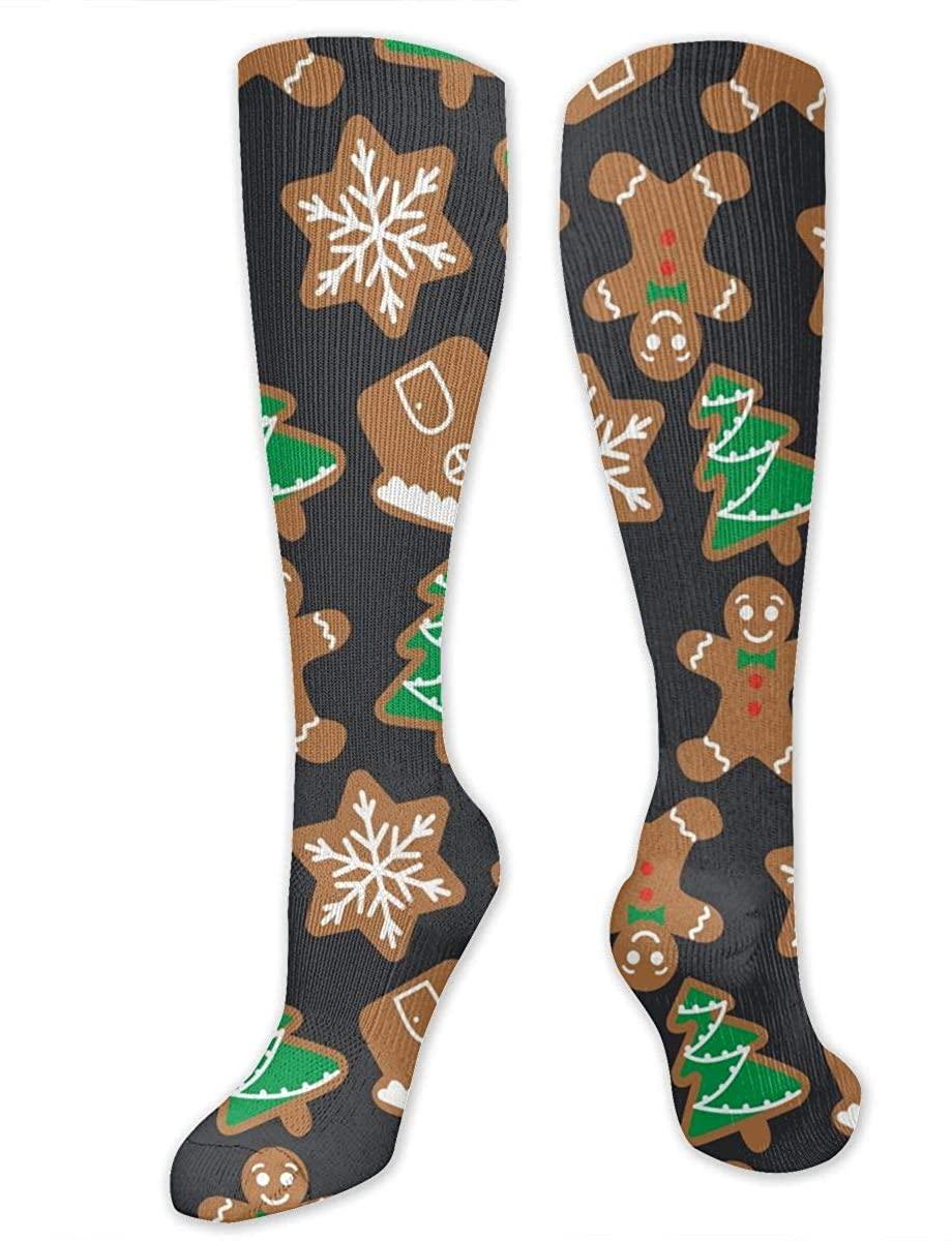 Christmas Gingerbread Athletic Socks Thigh Stockings Over Knee Leg High Socks