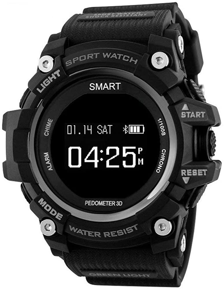 Smart Watch Three Anti-Step Heart Rate Sports Bracelet IP68 Large Battery Ultra Endurance HD OLED Screen Smartwatch (Red)