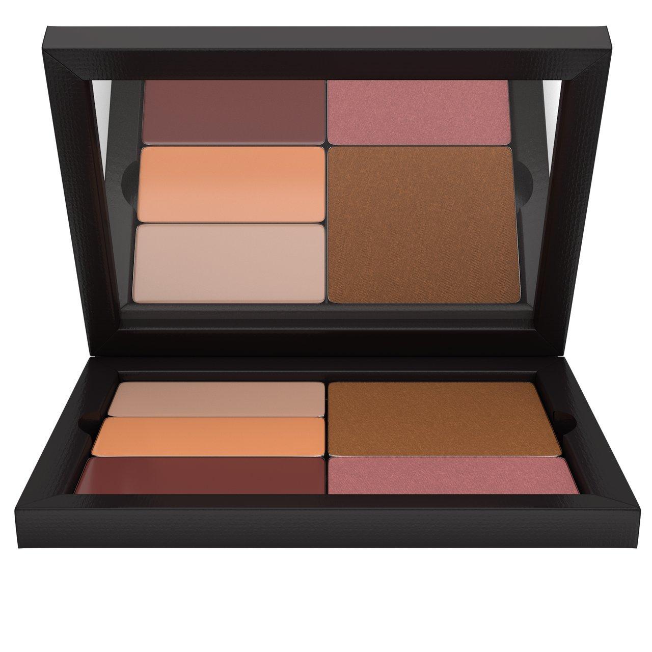 Contour/Highlight Blush Bronzer Makeup Palette: Medium Complexion