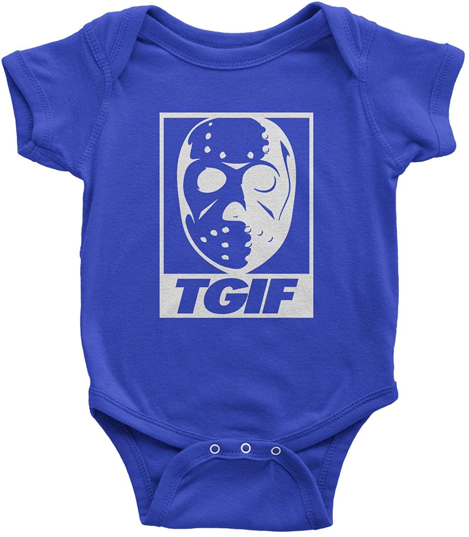 Expression Tees TGIF Jason Hockey Mask Infant One-Piece Romper Bodysuit