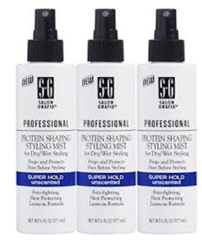 Salon Grafix Professional Protein Shaping Styling Mist, Super Hold, Unscented, 6 Fl Oz (Pack of 3) From Salon Grafix by Salon Grafix