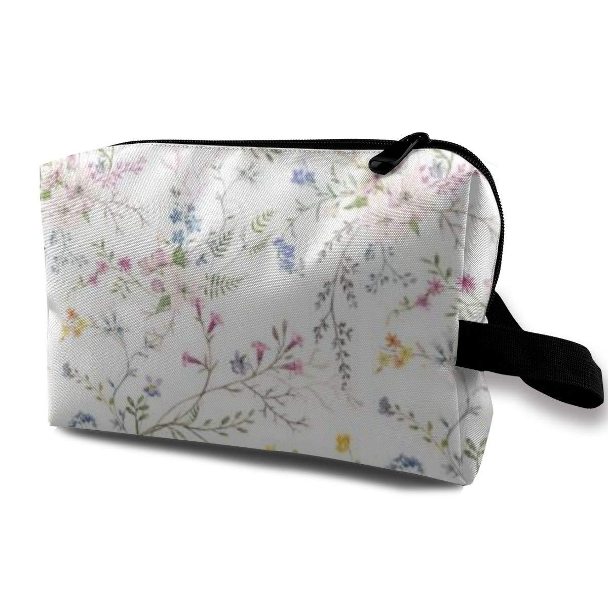 Makeup Bag Cosmetic Pouch Watercolor Floral Pattern Multi-Functional Bag Travel Kit Storage Bag