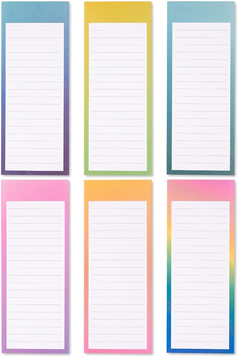 Magnetic To Do List Notepads, Watercolor Design (60 Sheets, 12-Pack)
