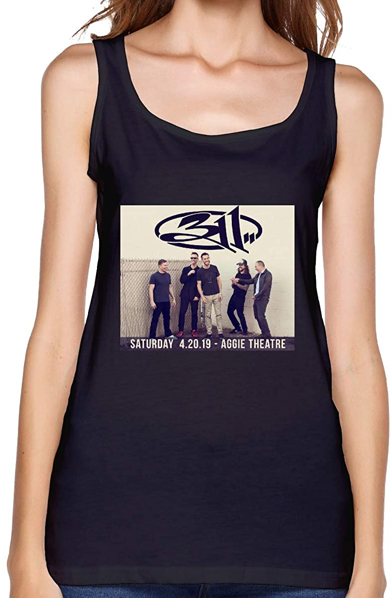 YourYarm 311 Rock Band Womens Stretch Casual Tank Tops
