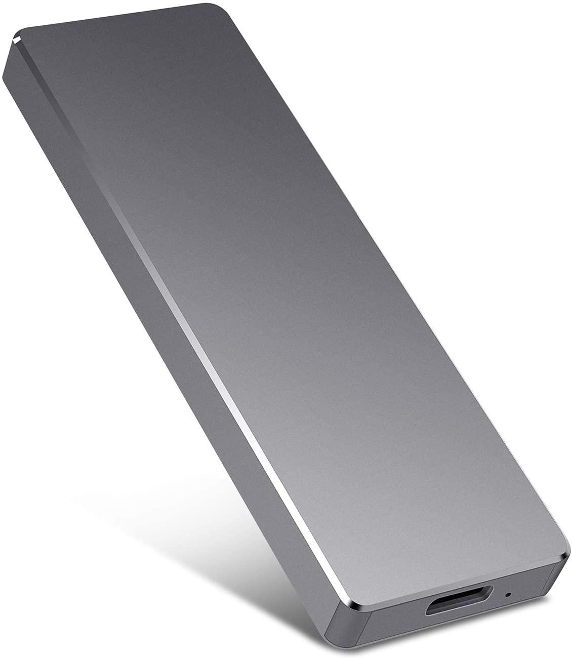 Portable Hard Drive External 1TB 2TB External Hard Drive Portable HDD Storage Compatible for PC, Mac, Desktop, Laptop-Black