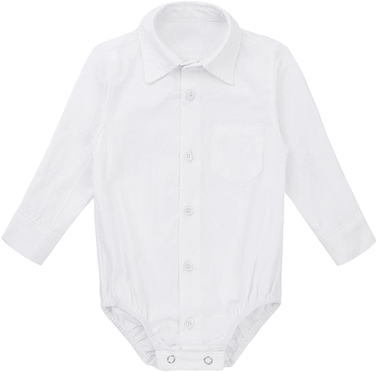 Agoky Infant Baby Boys' Gentleman Romper Formal Wedding Shirt Bodysuit Outfits