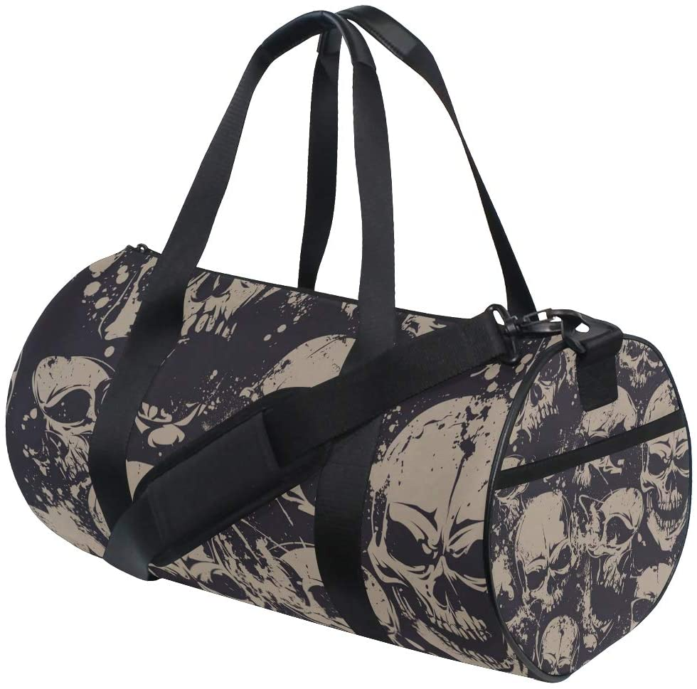 Brighter Skulls Fitness Sports Bags Gym Bag Travel Duffel Bag for Mens and Womens