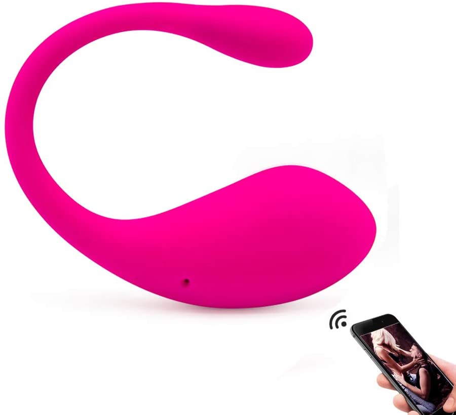 Wearable Vibe Plug Vibartor Bluetooth App Remote Control Hands Free U Shape Toy with 10 Strong Vibration USB Rechargeable Waterproof Massage Wand for Neck Foot Shoulder