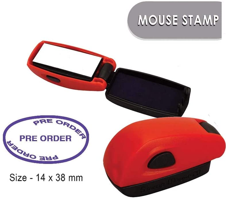 PRE Order Self Inking Rubber Stamp COLOP Mouse Stamp Office Business Stationary Stamp 14x38 mm