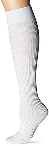 JOBST soSoft, Knee High Compression Socks, Ribbed, 8-15 mmHg, White, SM