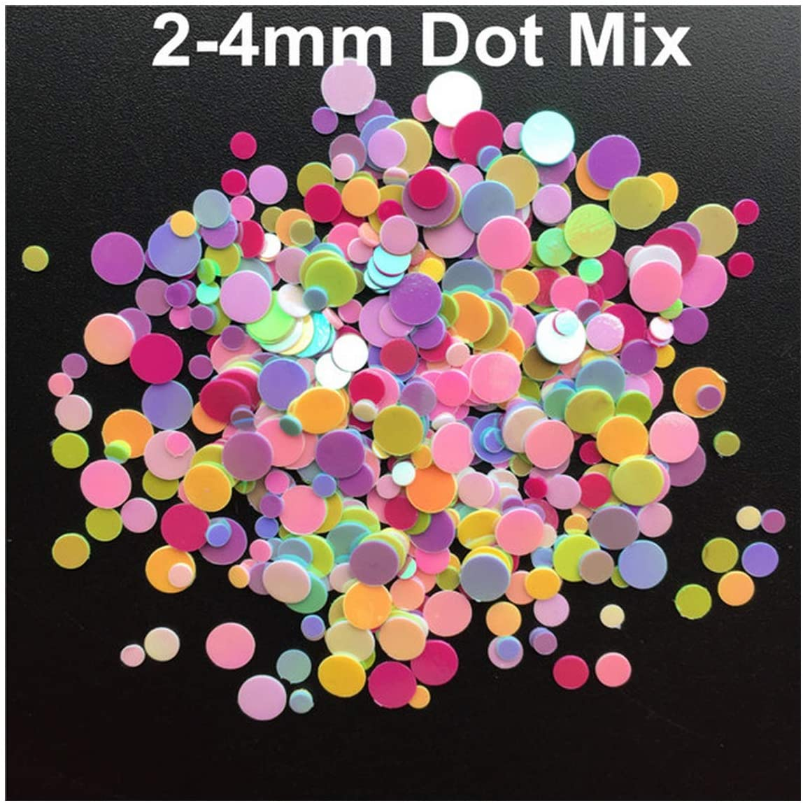 Dot Shape PVC Loose Sequins Glitter Paillettes for Nail Art Manicure/Sewing/Wedding Decoration,Ab Mix,4Mm Dot 20G