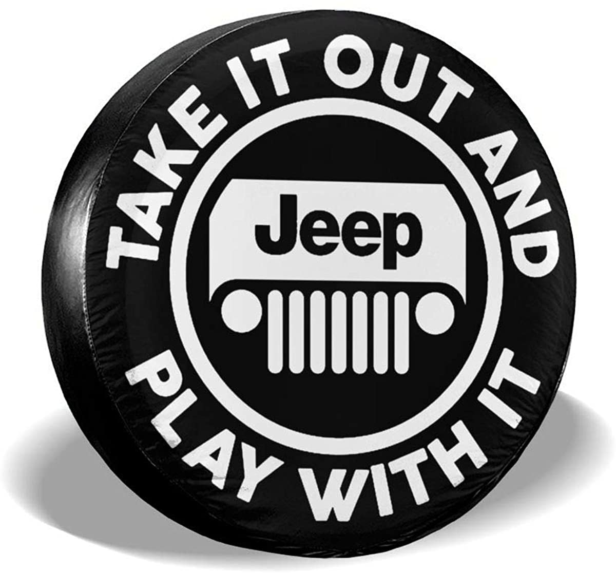 Take It Out and Play with It Universal Tire Cover Waterproof Dust-Proof Wheel Tire Cover Fit for Jeep