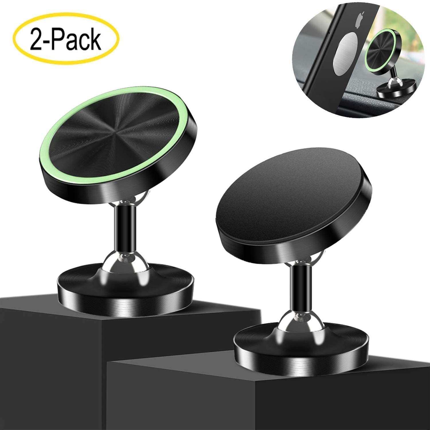 Viedouce Magnetic Phone Car Mount Cellphone Holder for Car Rotatable Universal Car Mount Dashboard, SQ