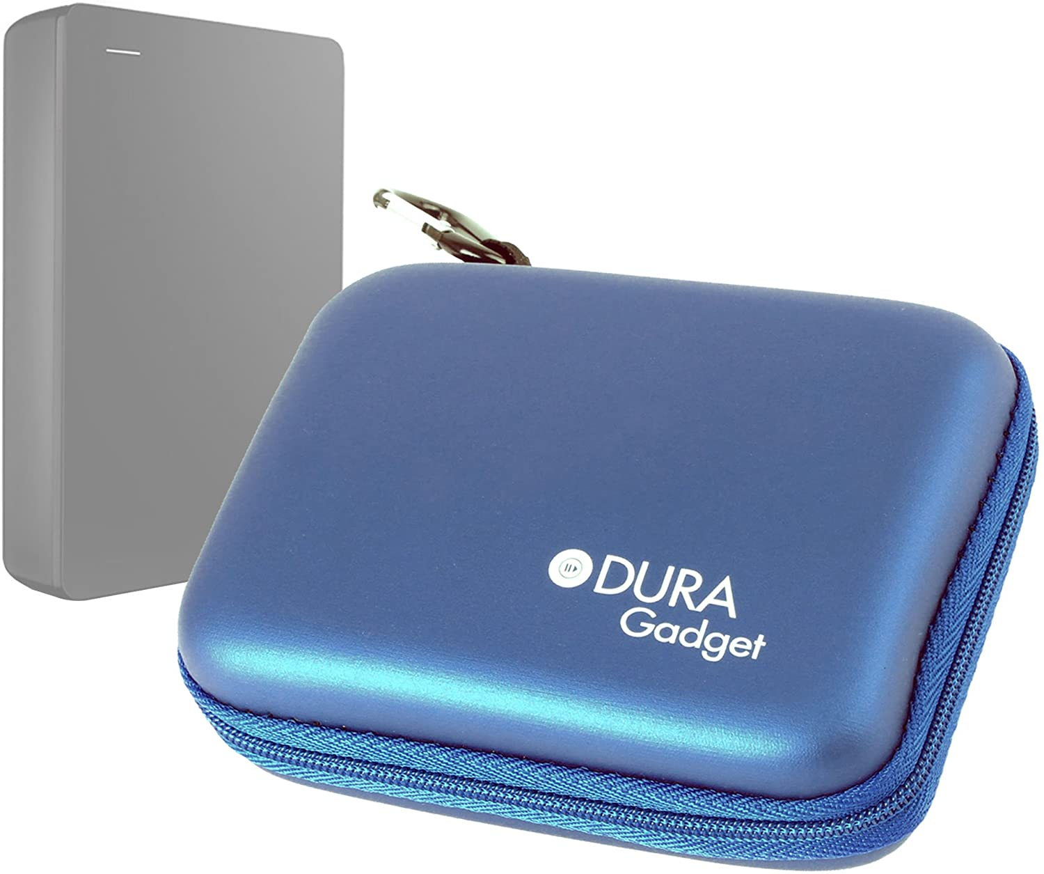 DURAGADGET Sturdy Solid Shock and Water Resistant Blue Case - Compatible with Seagate STBU1000200 1TB Backup Plus