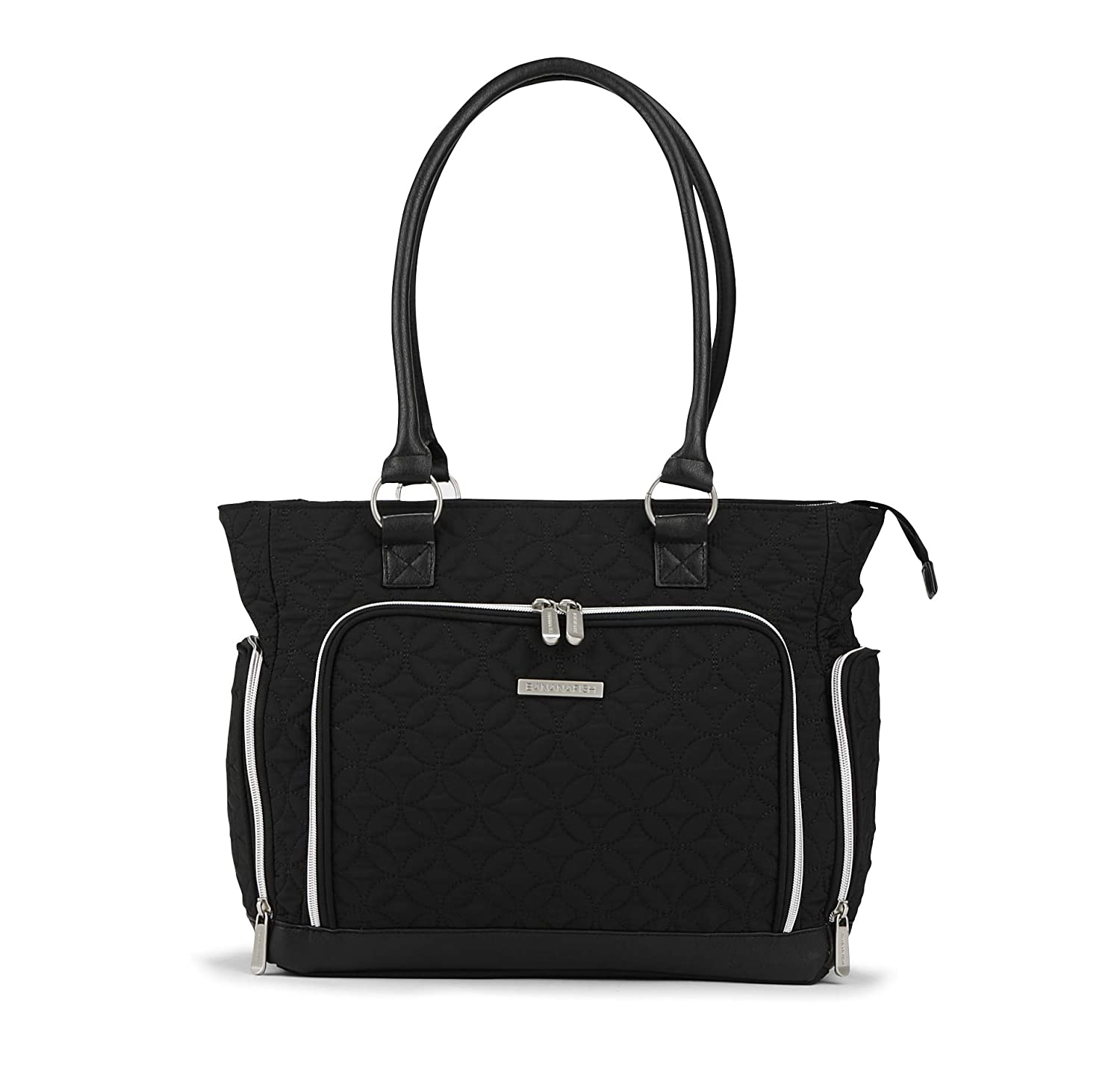 Bananafish Electric Breast Pump Tote Bag Portable Carrying Bag Great for Travel or Storage Accessory and Cooler Pockets Fits Most Major Brands Including Medela and Spectra, Black/Silver