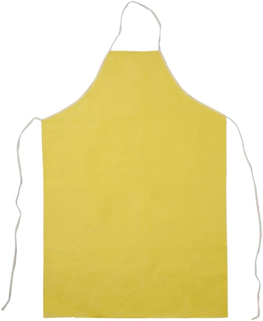 Kleen Handler Nonwoven Polypropylene Chemical Resistant Apron | Yellow, Water Resistant, 60 GSM, Pack of 10