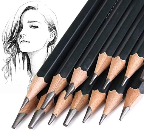 14pcs/set 12B 10B 8B 7B 6B 5B 4B 3B 2B B HB 2H 4H 6H Graphite Sketching Pencils Professional Pencil Set for Drawing