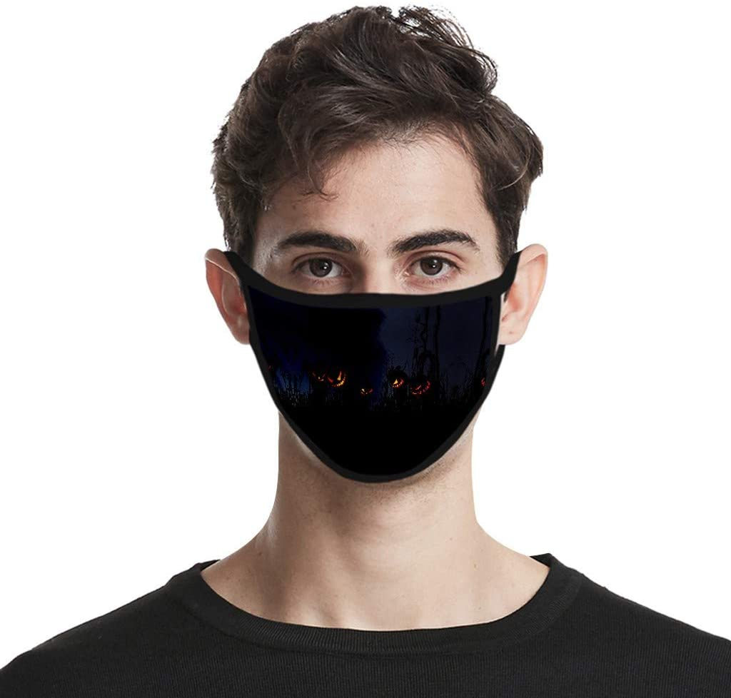 JIUDASG Adult Washable Anti Dust Windproof Face Bandanas Anti-Ultraviolet Print Face Bandanas