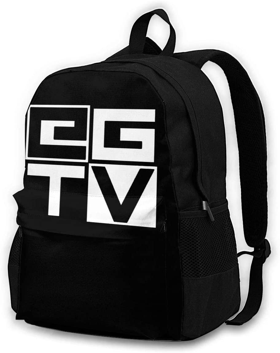 Ethangamertv Logo Backpack, Durable Shoulder Bag School Bag Laptop Bag Daypack For Adult Student