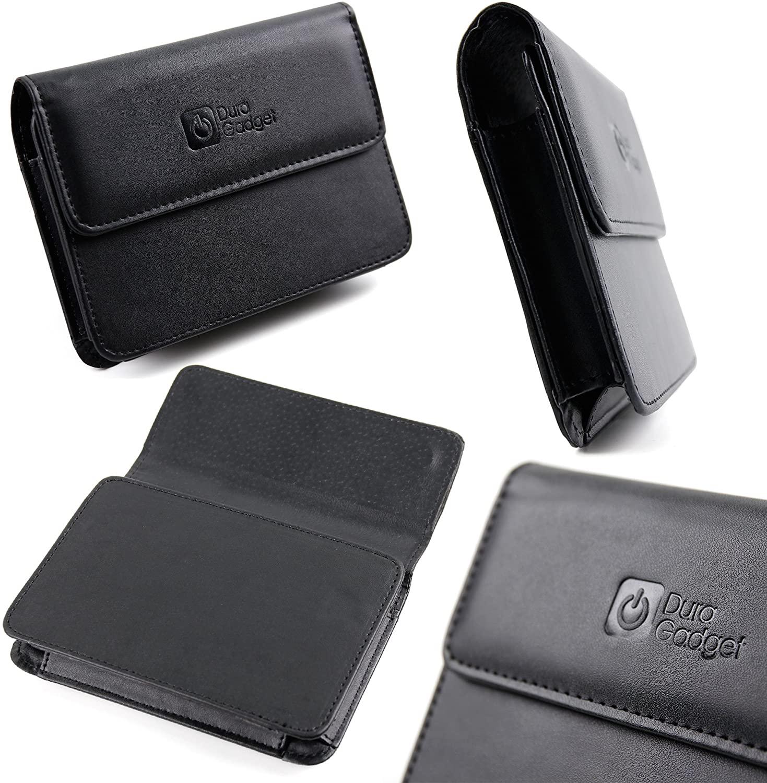 DURAGADGET 5-inch Faux Leather GPS/Satnav Case in Black - Suitable for The Medion Gopal E5470 EU+ Satnav