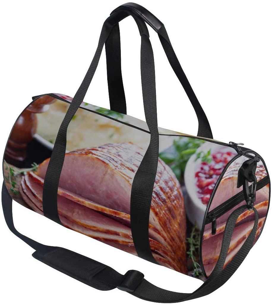 Duffel Bags For Women Super Delicious Food Ham Yoga Gym Totes Handbag Travel Duffel Bags Shoulder Crossbody Fitness Sport Girl Men Women Totes