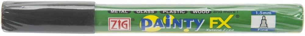 Zig 1.5mm Painty FX Pen Fine Tip Marker,Pack of 12,Black