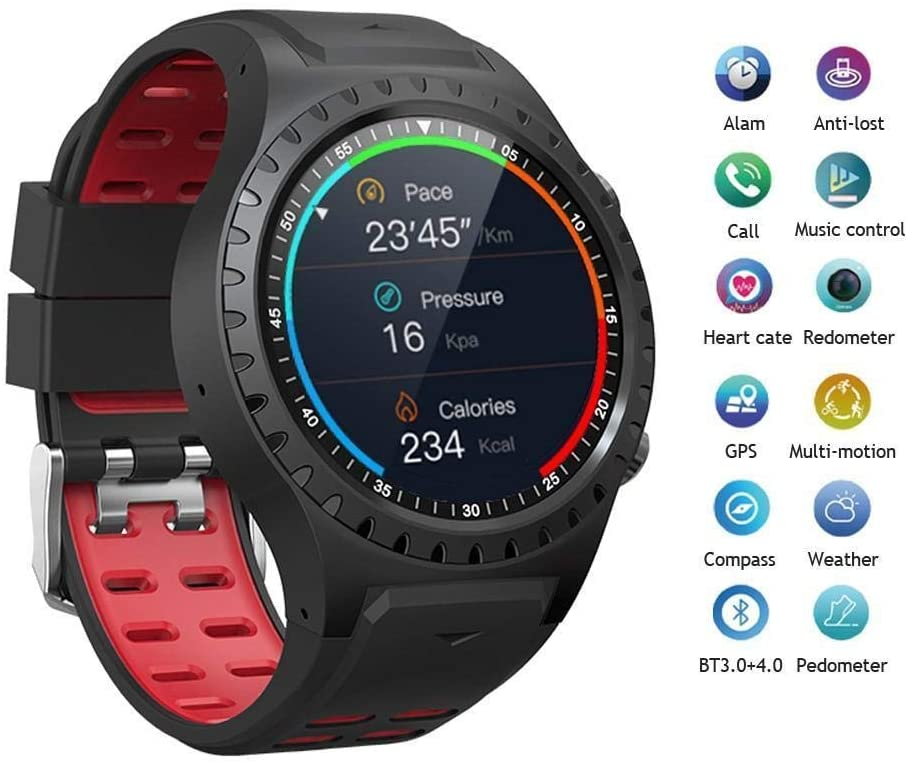 BuyBnK Smart Watch Waterproof Support Micro SIM Card (Blue/United States)