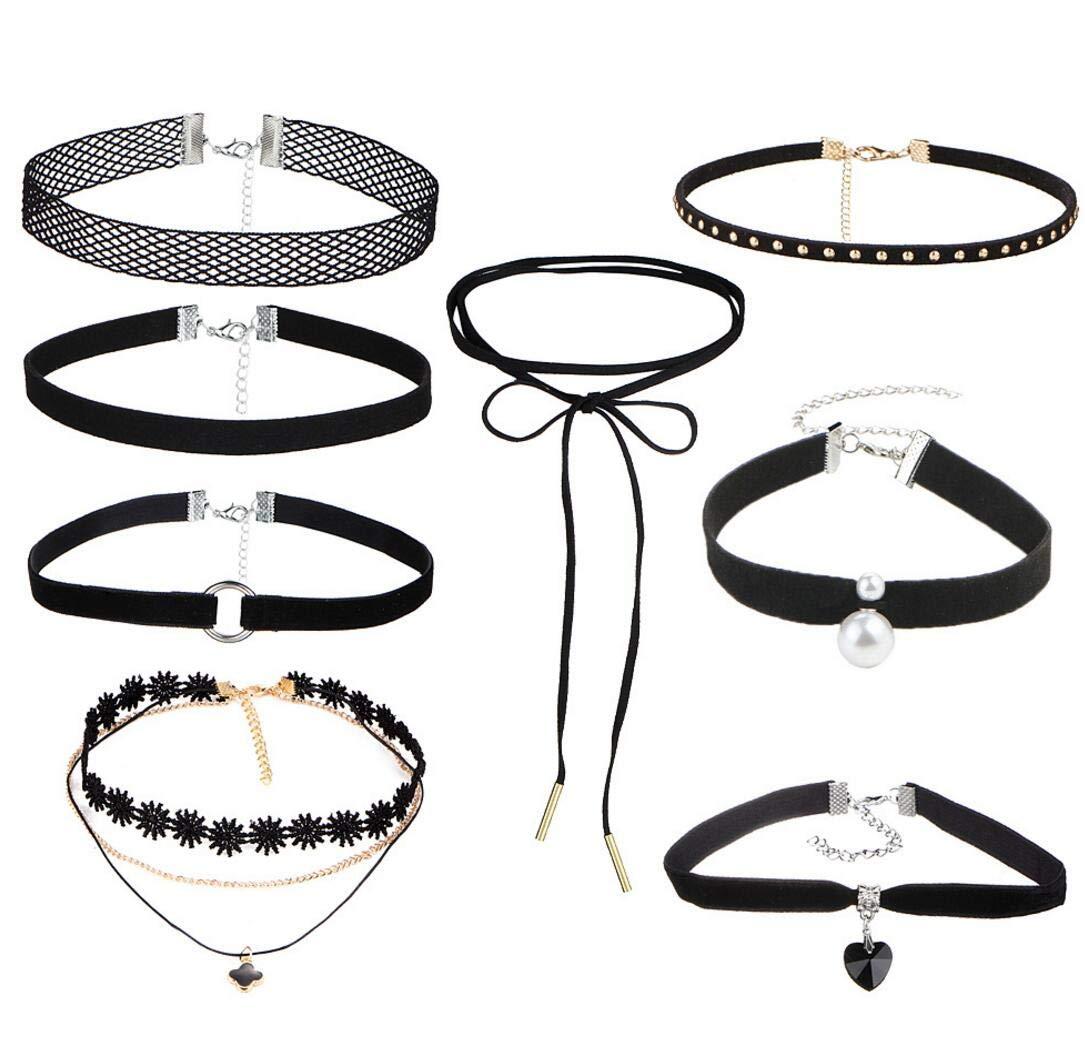 Lace Fish Line Circle Wild chain necklace chain necklace suit