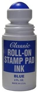 Roll-on Stamp Pad Ink - Blue