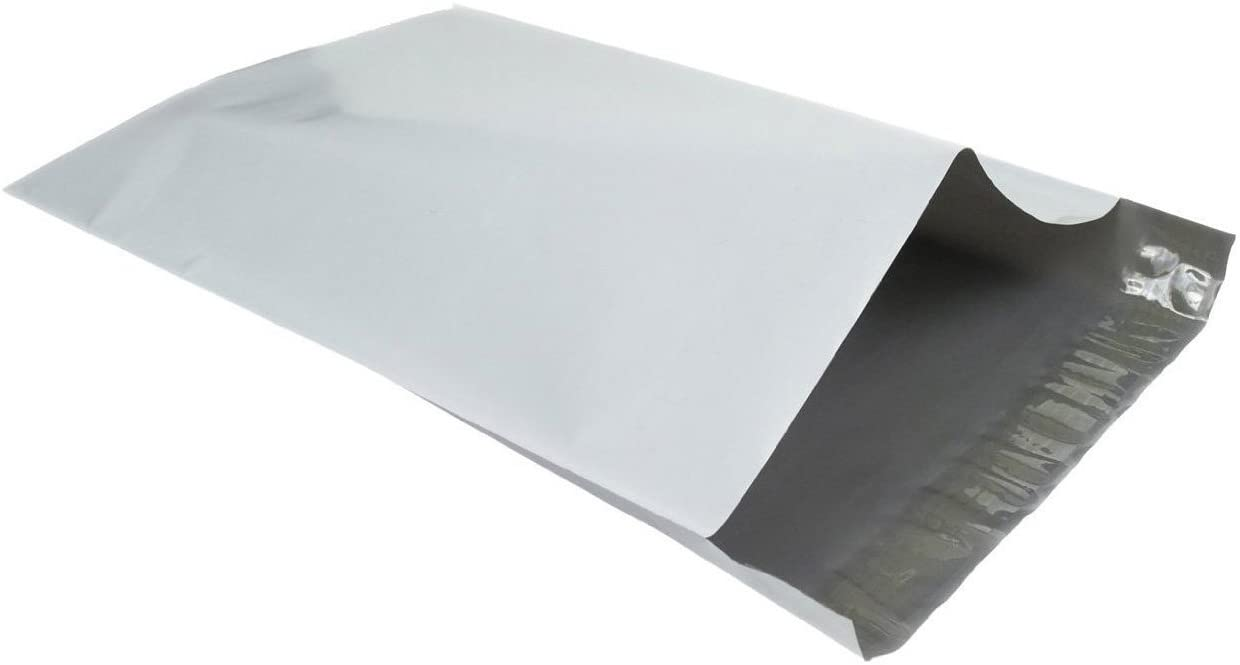 Immuson 10x13 Poly Mailers 100 Envelopes Shipping Bags Self Sealing, White (100 Bags)
