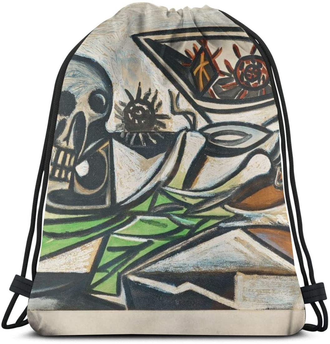 Backpack Drawstring Bags Cinch Sack String Bag Pablo Picasso Cubism World Famous Paintings Sackpack For Beach Sport Gym Travel Yoga Camping Shopping School Hiking Men Women