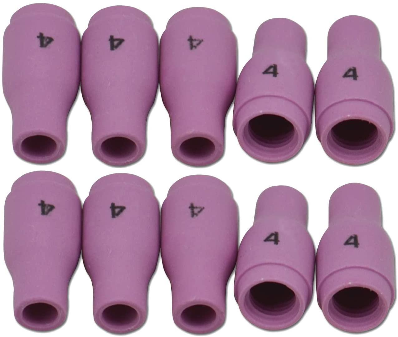 13N08 TIG Alumina Nozzle Ceramic Cups Fit PTA SR DB WP 9 20 25 TIG Welding Torch Accessories 10PK