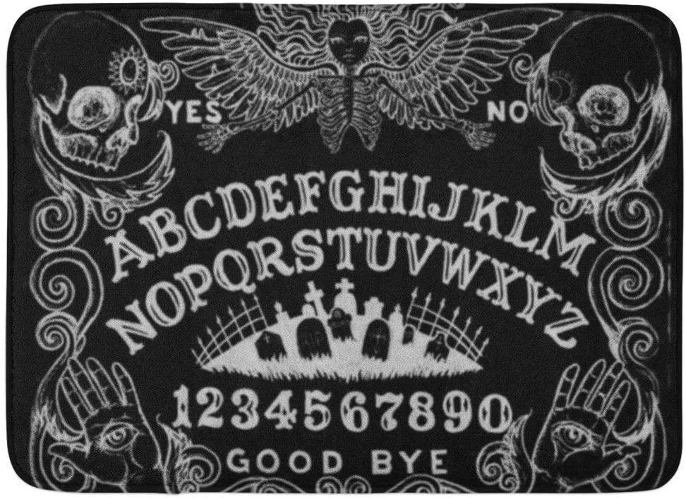 Coolest Secret Bath Mat Spirit Witch Board Black Gothic Goth Occult Witchcraft Bathroom Decor Rug 16