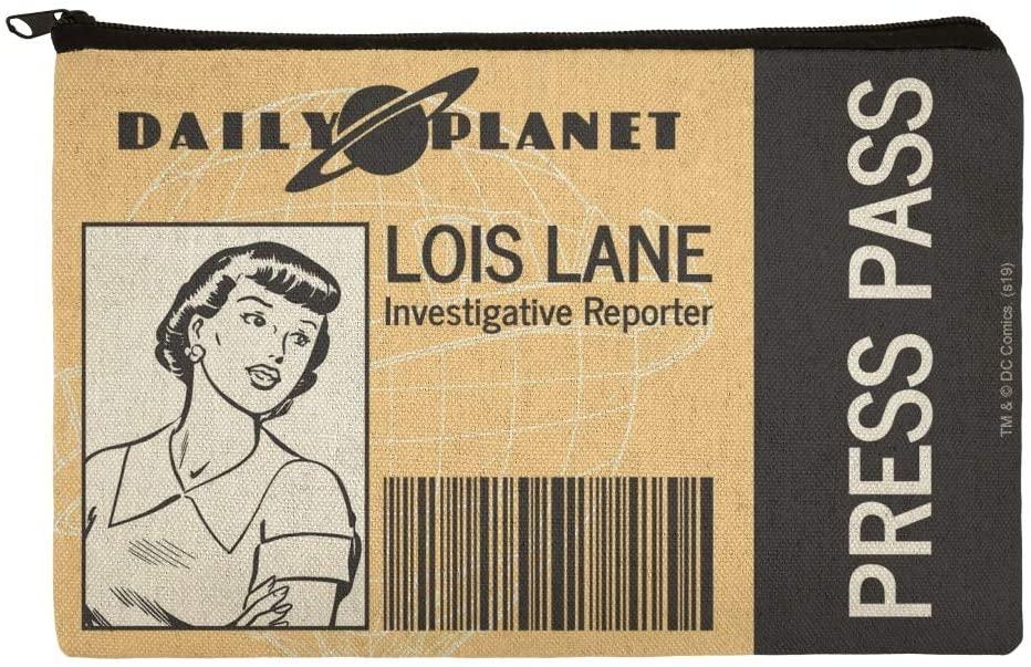 Superman Lois Lane Press Pass Makeup Cosmetic Bag Organizer Pouch