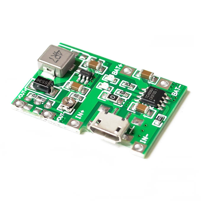Lithium Li-ion 18650 3.7V 4.2V Battery Charger Board DC-DC Step Up Boost Module TP4056 DIY Kit Parts
