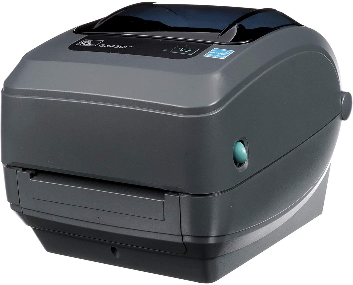 Zebra GX430t Thermal Transfer Desktop Printer Print Width of 4 in USB Serial and Parallel Port Connectivity GX43-102510-000