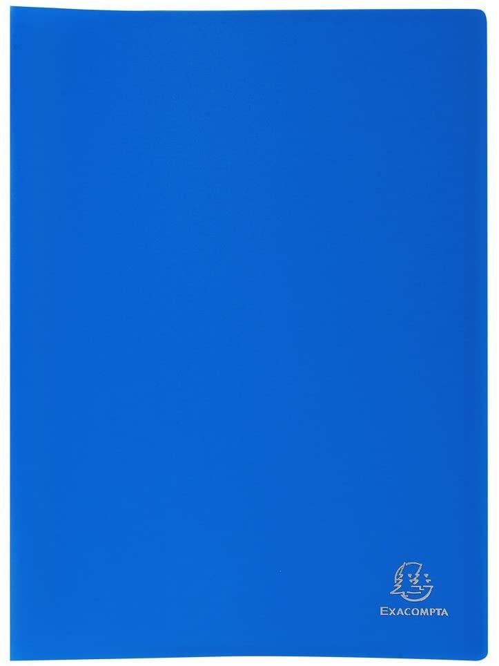 Exacompta 80 Pocket Display Book - Blue