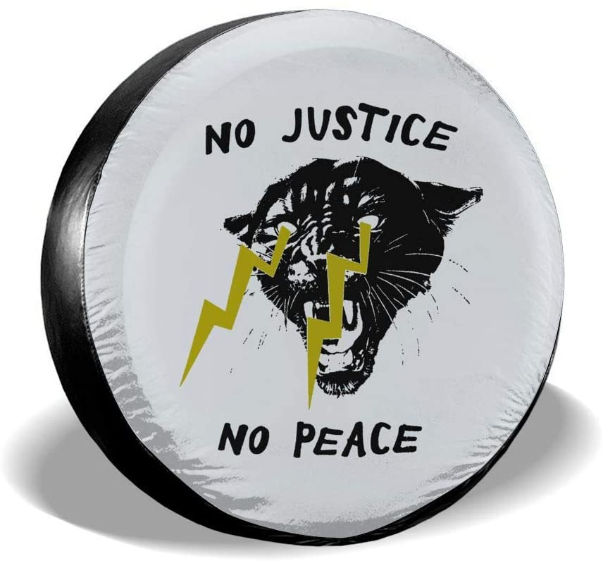 SDHEIJKY No Justice No Peace1 Personality Accessories Universal Fit Spare Wheel Tire Cover