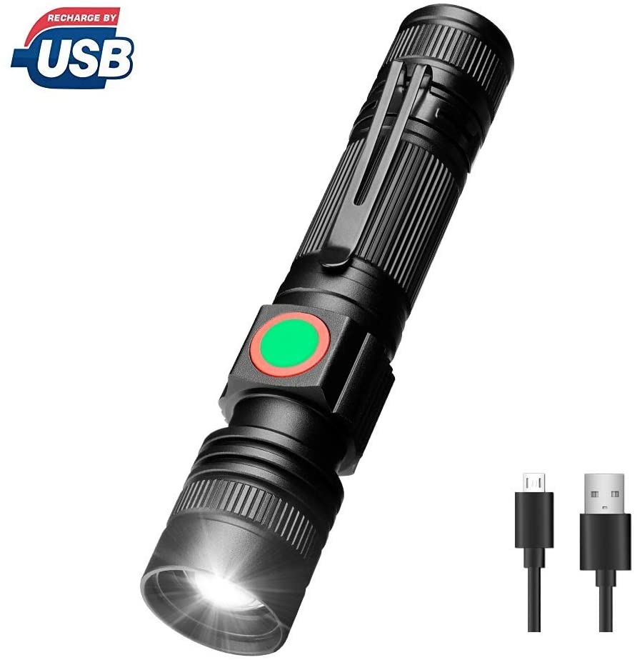 Usb Rechargeable High Lumens LED T6 strong light flashlight,Zoomable 3 Modes,Telescopic lens outdoor cycling mini tactical flashlight