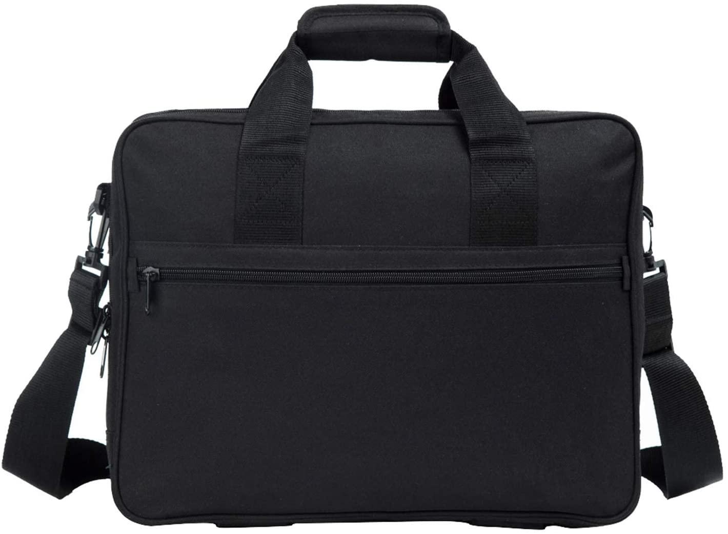 15.6Inch Laptop-Bag Business Briefcase Travel MessengerShoulder Bag Waterproof Computer Carrying Case Black