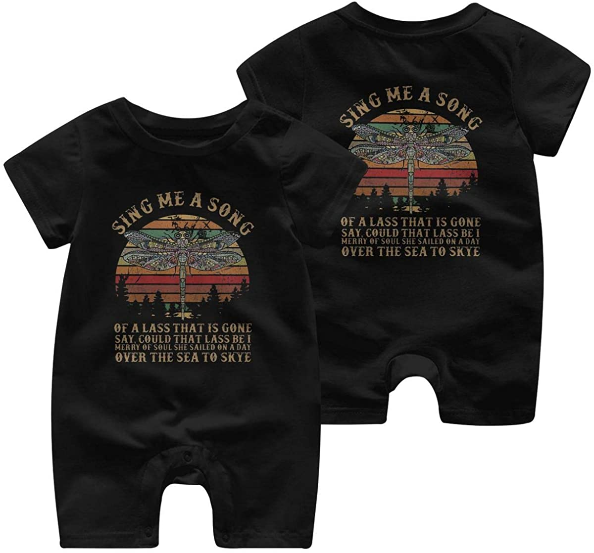 Mr.ChenHong Baby Outlander-Fly Sing Me A Song Short Sleeve Jumpsuit