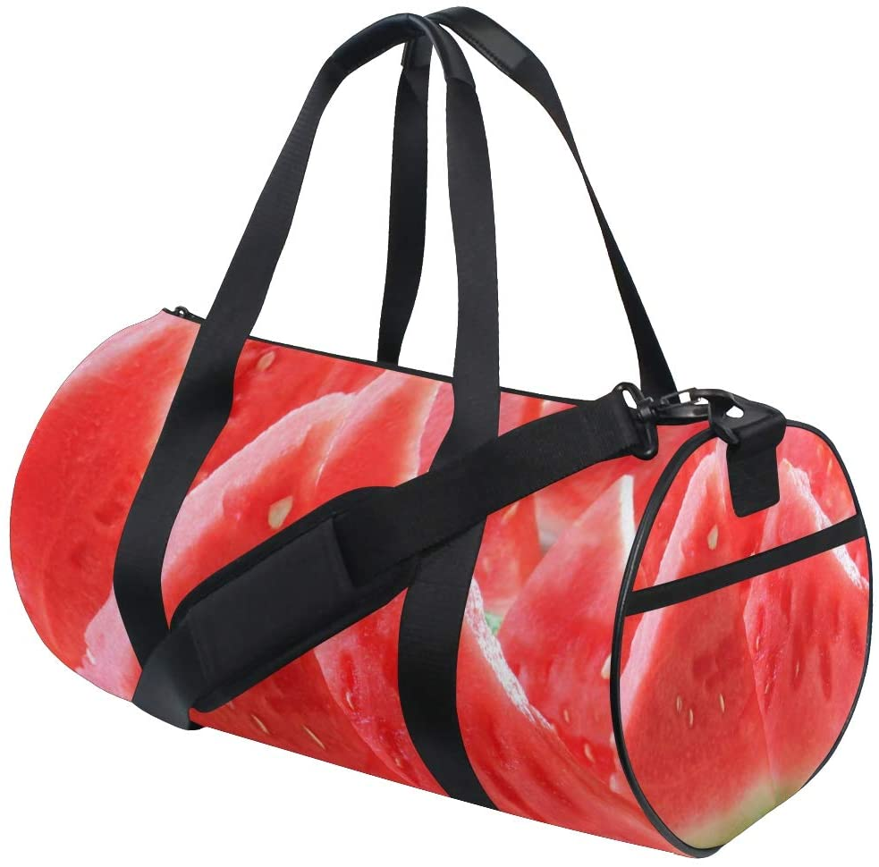 Brighter Red Fruit Watermelon Fitness Sports Bags Gym Bag Travel Duffel Bag for Mens and Womens