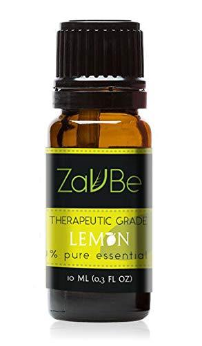 ZAVBE Lemon Oil (Citrus Limonum) 100% Pure, Natural, Therapeutic Grade 10 mL