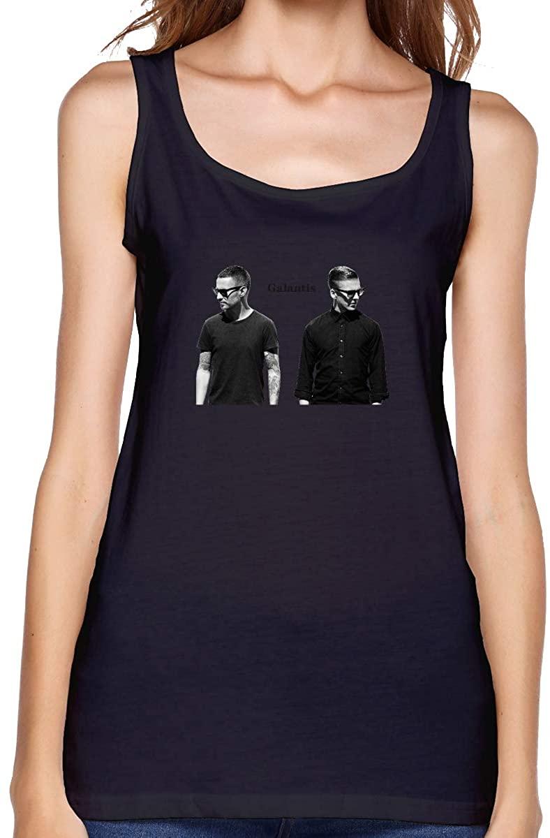 FankTasf Galantis Women's Casual Vest Summer Graphic T-Shirt Personality Printing