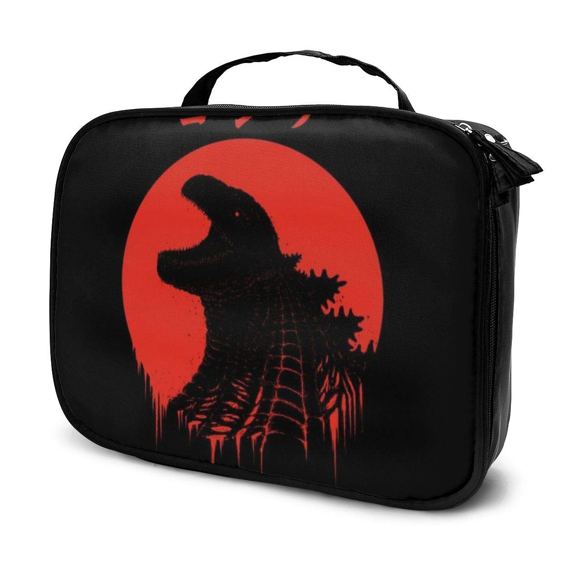 Makeup Bag Cosmetic Pouch Godzilla Kaiju Regeneration Multi-Functional Bag Travel Kit