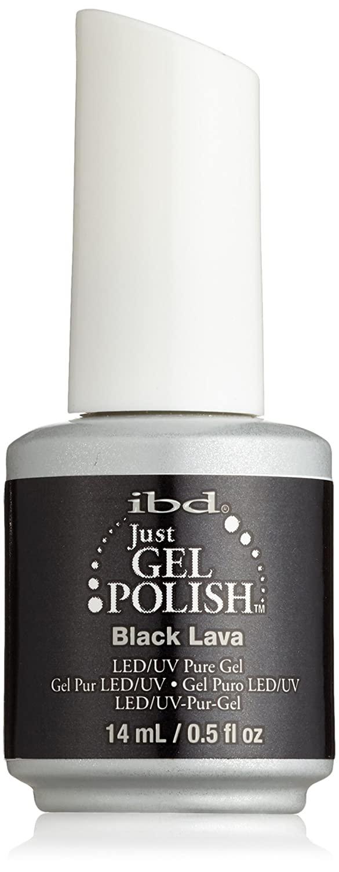 IBD Just Gel Nail Polish, Black Lava, 0.5 Fluid Ounce