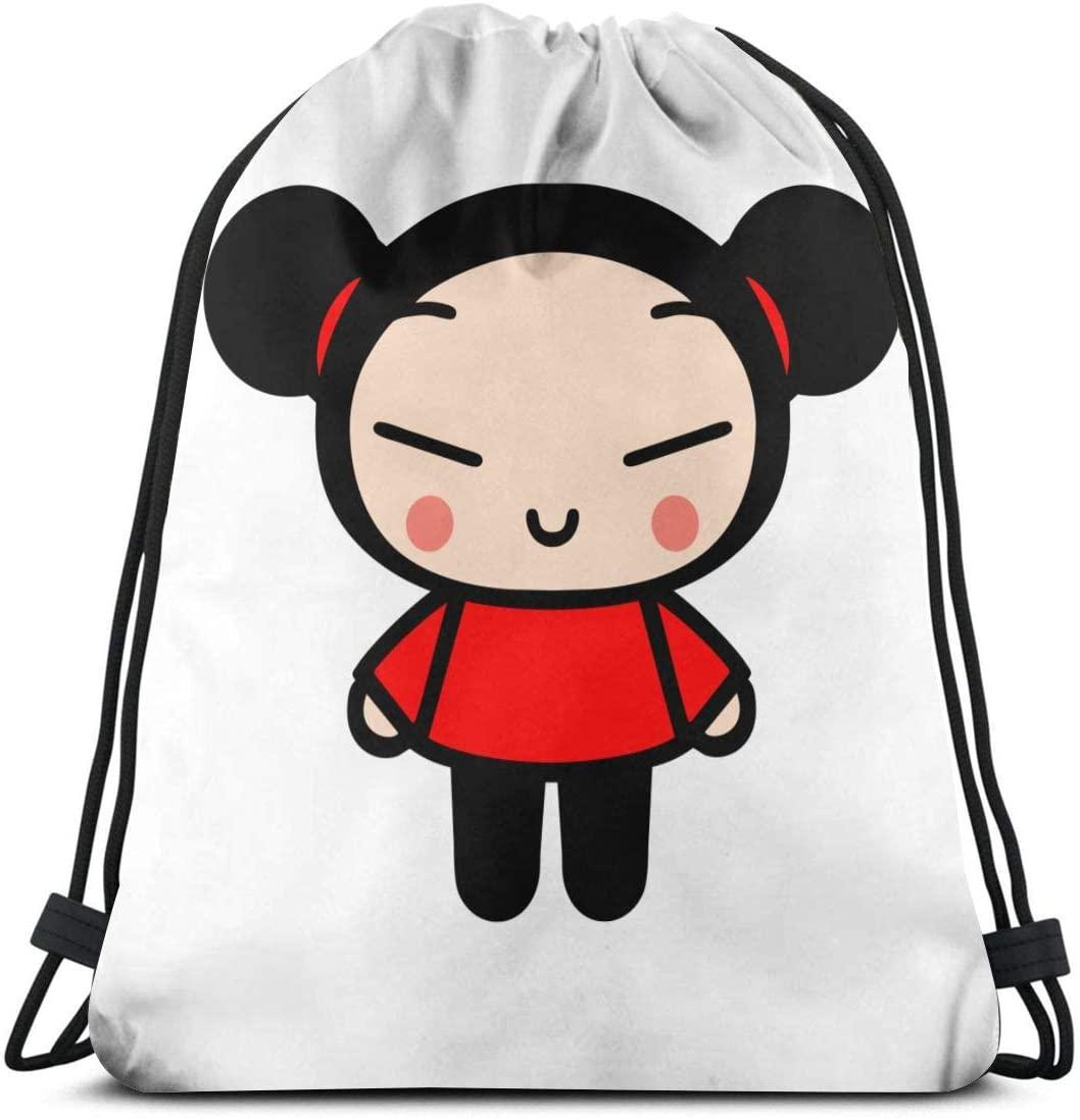 Pucca Drawstring Backpack Gym Sack Cinch Bag String Bag