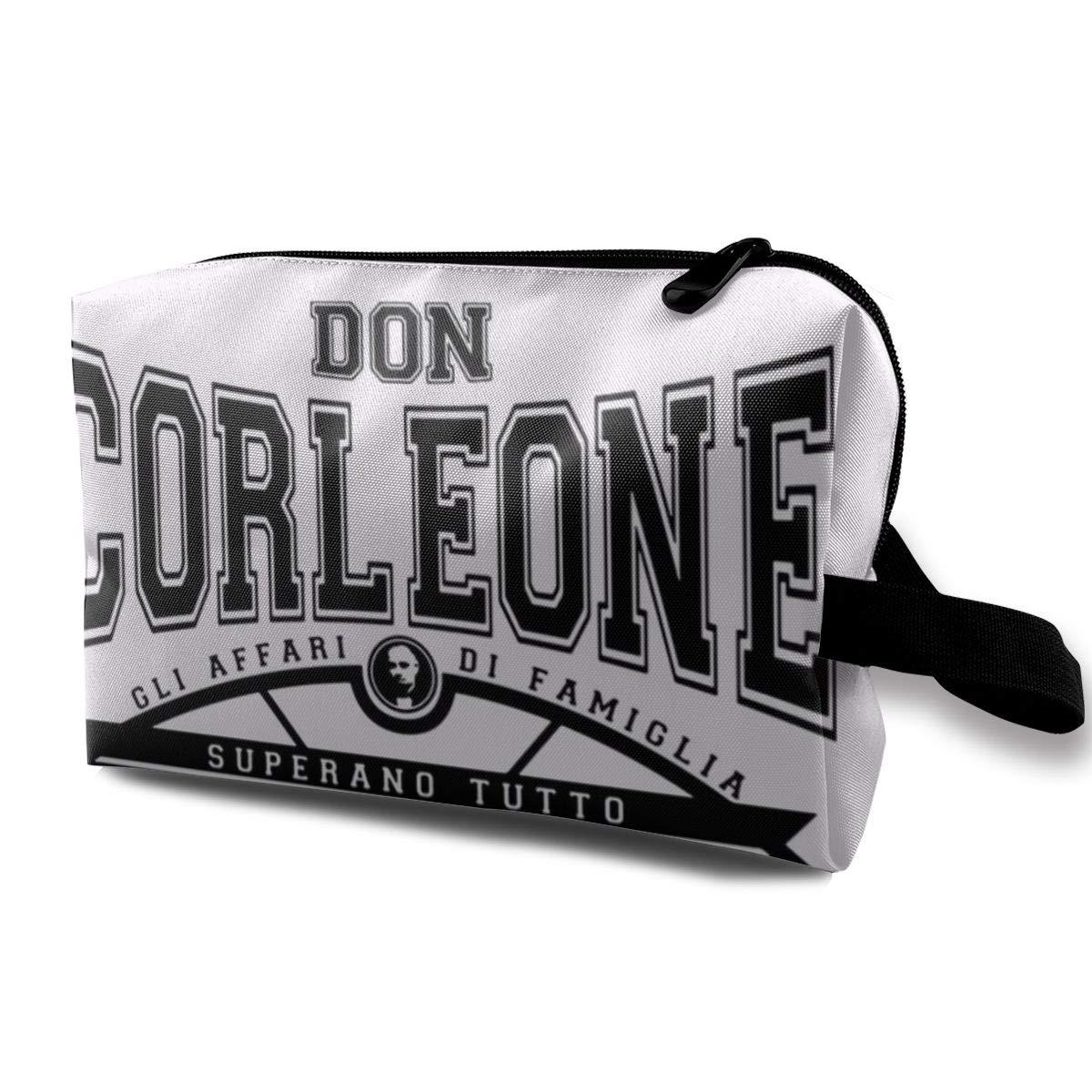 Makeup Bag Cosmetic Pouch Don Corleone Superano Tutto The Godfather, Trucker Cap Whiteblack Multi-Functional Bag Travel Kit Storage Bag