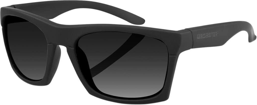 Bobster Unisex-Adult ECAP001 Sunglass Capone (Black Frame/smoke Lens, Medium)